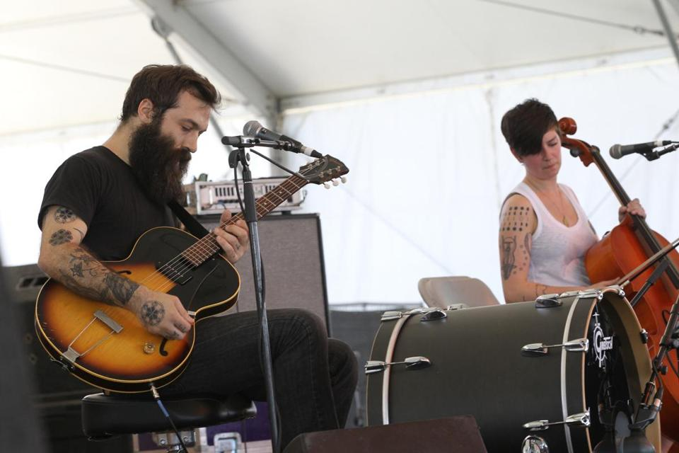 Brown Bird — David Lamb and MorganEve Swain — at Stagecoach festival in 2013.
